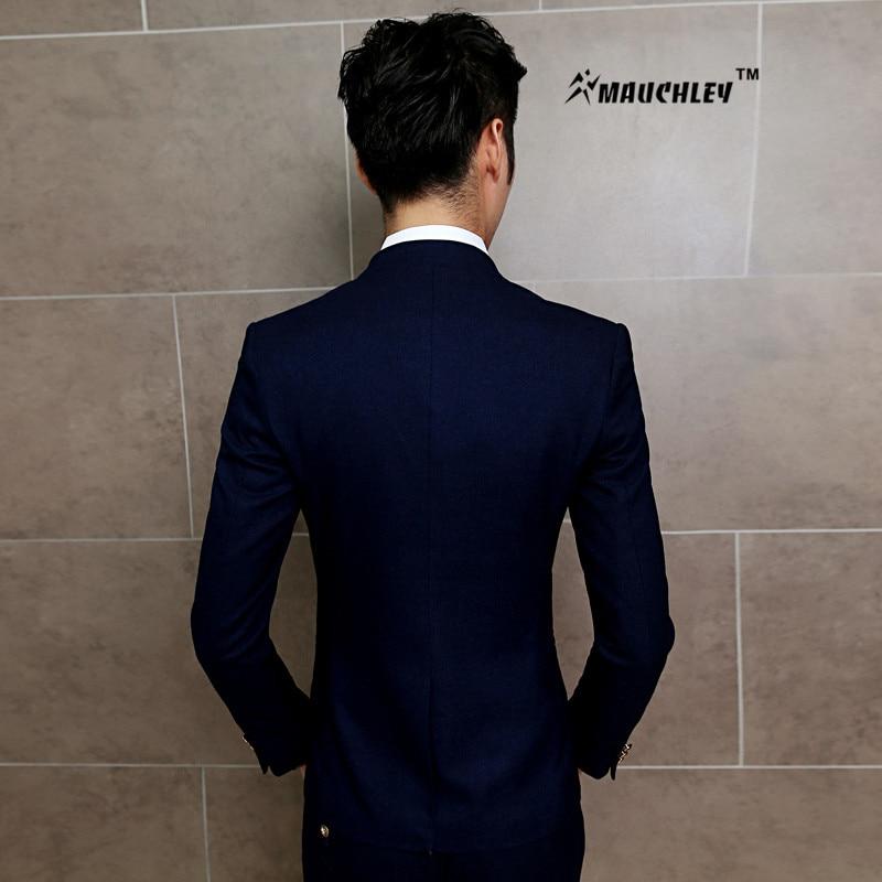 MAUCHLEY 2PCS / Készlet Slim Fit Prom Homme Férfi jelmez Esküvői - Férfi ruházat - Fénykép 6