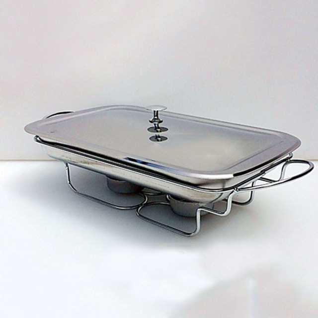 Famous stainless steel Rectangular Chafing Dish lid hotpot holder 35cm  QP29