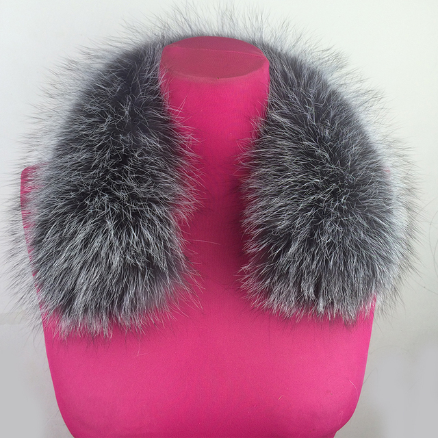 2016 New Real Fox Fur Collar Women Silver Fox Fur Square Collar Ring Scarf Womens100% Genuine Natural Fox Fur Collar Accessories