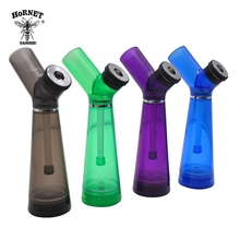 HORNET Premium Acrylic Smoking Water Pipe With  Grinder 210MM Plastic Hookah Shisha Tobacco Pipes Tool Accessories