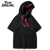 3 Solid Color Hooded T Shirt Short Sleeve Men 100 Cotton T Shirt Swag Men Cloth
