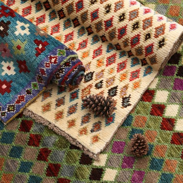 Colorful Bohemian Kilim Carpet