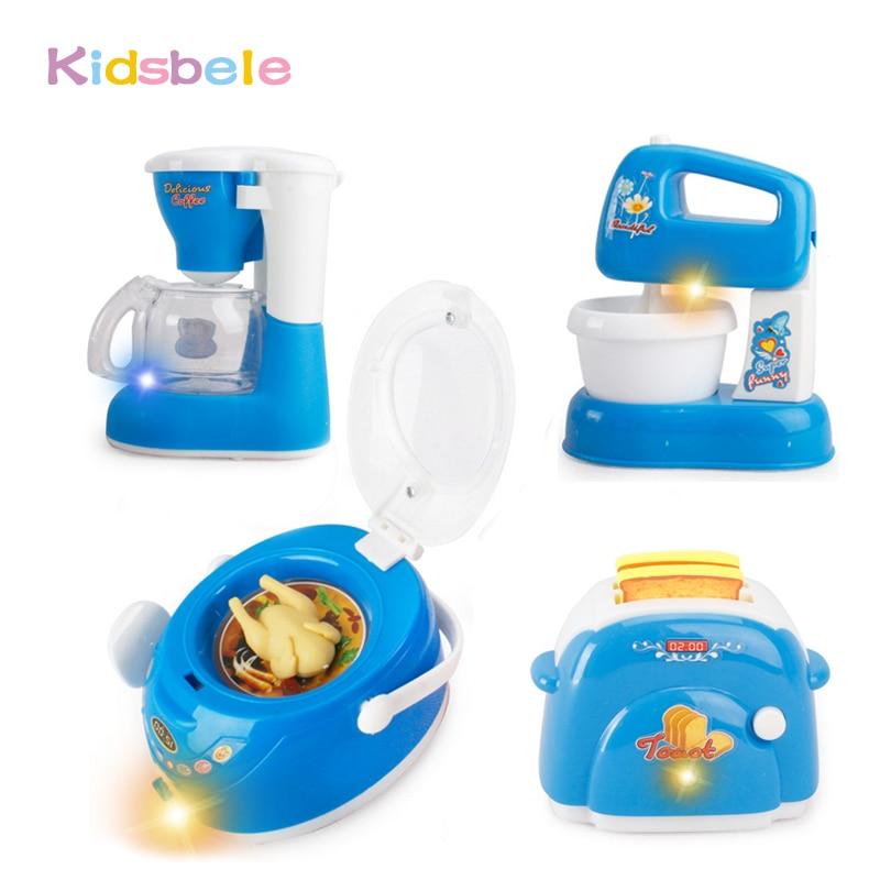 US $7.19 49% di SCONTO|Giocattoli Per I Bambini Giochi di imitazione Blu  Mini Set Da Cucina Giocattoli di Cucina Simulazione Elettronica Forni A ...