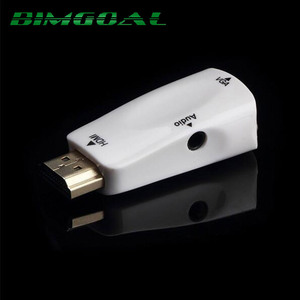 BIMGOAL high quality 1080p HDMI to VGA Adapter Converter with Audio Cable Male To Female For PC/TV/Xbox 360 PS3