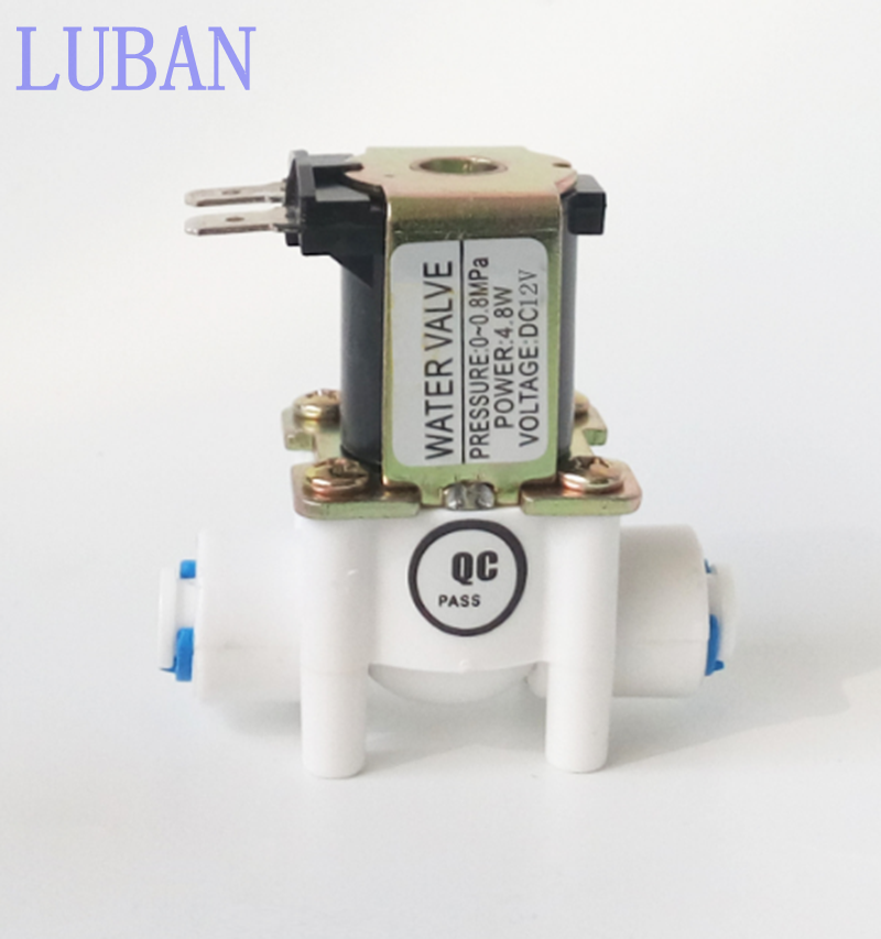 Electric Solenoid Valve Magnetic DC 12V Water Air Inlet Flow Switch 1/4  quick access general access 12v 1pc