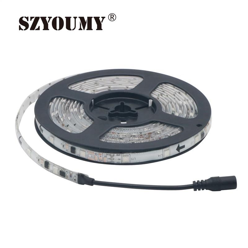 Led Lighting Buy Cheap Szyoumy 50m/lot Free Shipping 12v 30leds/m 2811 Rgb Led Strip Light 5050 Smd Rgb Waterproof Ip65 Auto Changing Rgb Color Led Strips