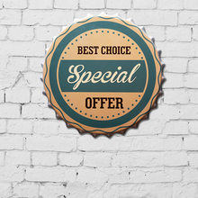 "Tin Sign ""SPEEIAL"" Creative Vintage Iron Restaurant Bar KTV Decorative Wall Hanging Ornaments Art Deco Metal Painting(China)"
