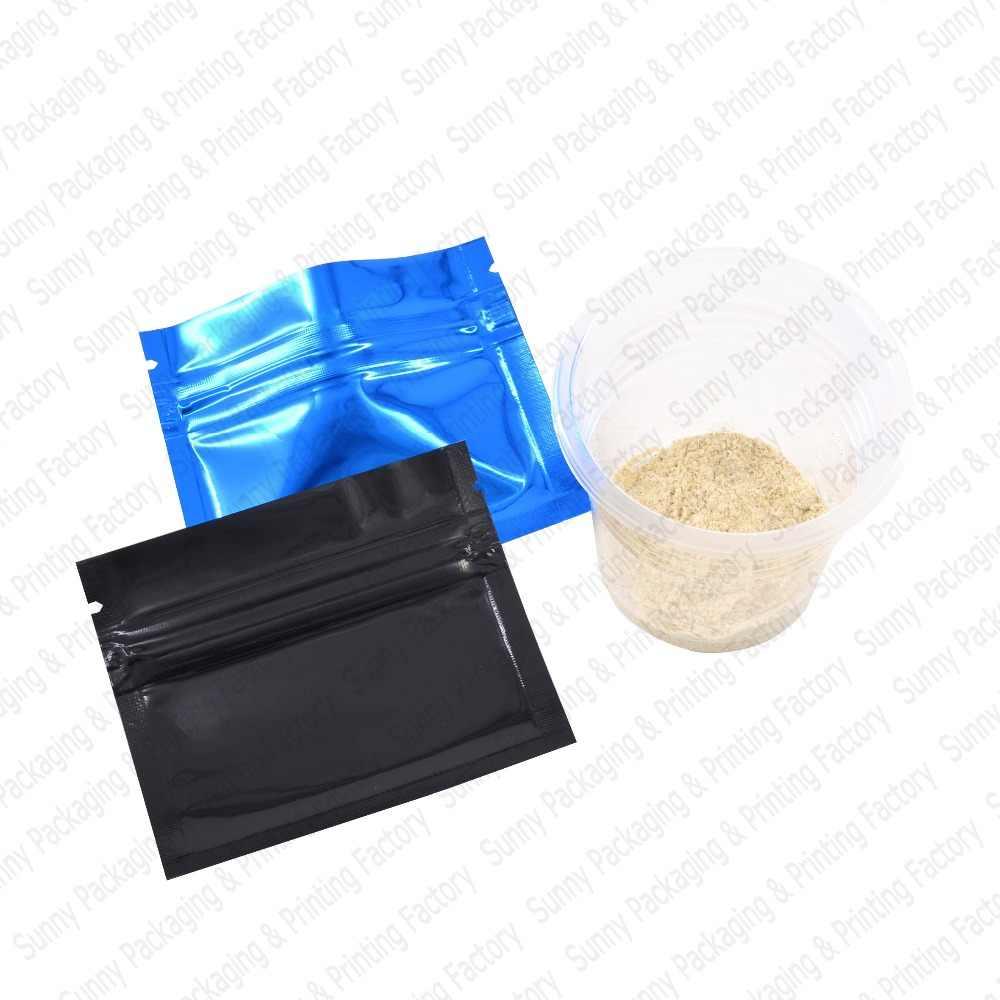 100 sztuk 7.5x6.5 cm (3 ''x 2.5'') folia aluminiowa kolorowe torebki z zamkiem strunowym, plastikowy zamek błyskawiczny blokady torby z zapięciem, przechowywanie żywności torby darmowa wysyłka