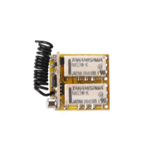 รีเลย์รีเลย์รีเลย์สวิทช์ 2CH DC3.7V 4.2V 5V 6V 7.4V 8.4V 9V 12V 0V Contact แห้งรีเลย์สลับมูลค่าไม่มี COM NC 315MHz 433MHz