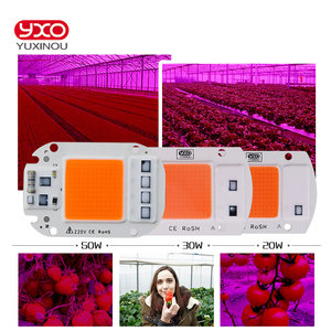 Image 5 - YXO YUXINOU LED COB Chip For Grow Plant Light Full Spectrum Input 220V AC 20W 30W 50W For Indoor Plant Seedling Grow and Flower