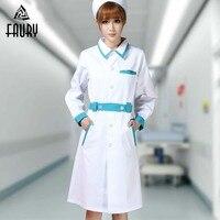 Hospital Nurse Uniform Pharmacy Work Uniforms Long Sleeve New Drugstore Dress SPA Beautician Workwea rWomen Female Clothes