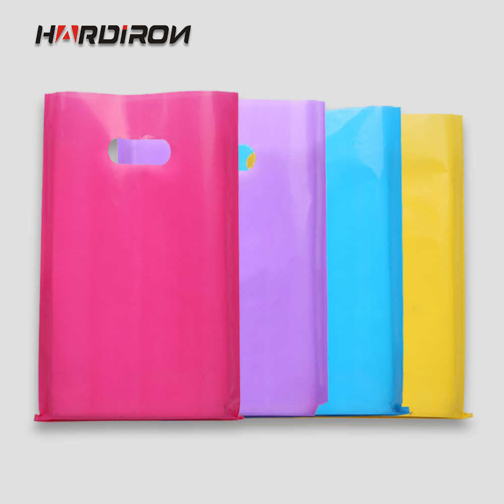 HARDIRON Pure Color Shopping Clothing Bag Customizable LOGO Plastic Gift Pouch High-Grade Jewelry Packet Cosmetic Packaging Sack