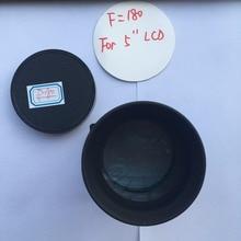 Светодиодный проектор DIY объектив, f = 180 мм фокусное расстояние проекции стекло объектива домашний кинотеатр DIY объектив для 5 дюймов проектор LCD Бесплатная доставка