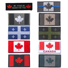 Embroidered Canada Flag Patches Army Badge Patch 3D Tactical Military Patches Fabric Cloth Armband National Flag Badge(China)