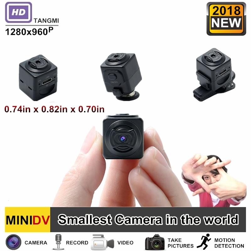 2018 New Mini Camera Full HD 960P Secret Cam Motion Detection Feature The Smallest Camcorders In The World PK SQ8 SQ10 SQ11 SQ12