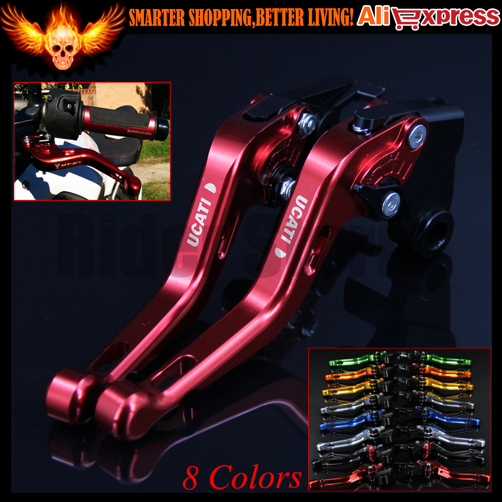 ФОТО 8 Colors New CNC Aluminum Red Motorcycle Short Brake Clutch Levers for Ducati M900/M1000 2000 2001 2002 2003 2004 2005