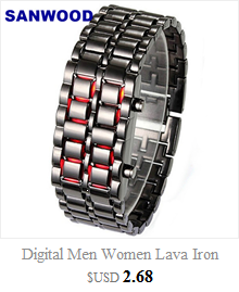 Cool Men's Oversized Design Light Digital Sports Plan Shaped Dial Wrist Watches 5