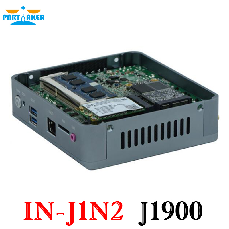Partaker Mini Nano PC Intel Quad Core J1900 with support Wake on LAN PXE Watchdog 3G GPIO-in Mini PC from Computer & Office    3