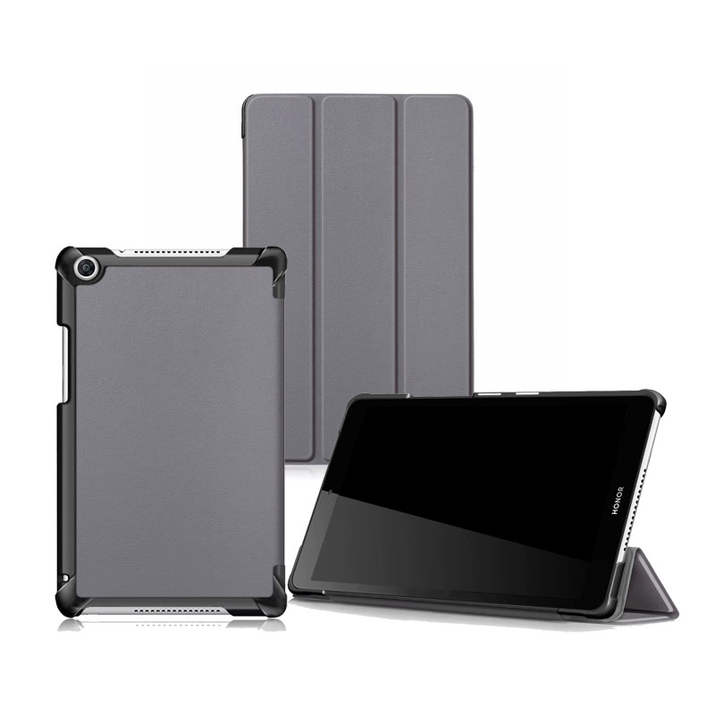 Full Protector Cover For Huawei Mediapad T5 8 0 Slim Folding Stand PU Leather Case 30PCS