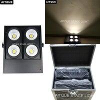 (2lot/CASE)Lighting theaters 4x100w blinder led dmx white cob led audience blinder led downlight studio light