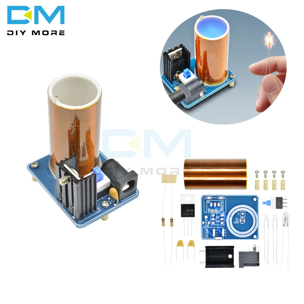 BD243 BD243C Mini Tesla Coil Magic Props DIY Parts Empty Lights Technology Diy Electronic kit