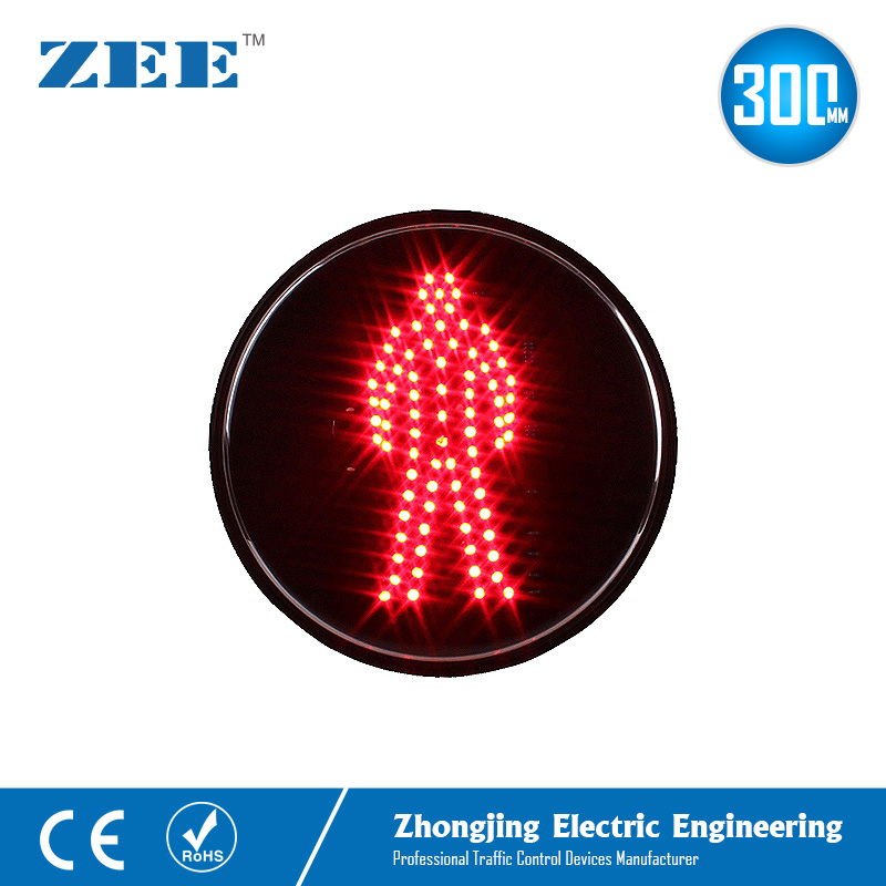 12 Inches 300mm Red Man LED Traffic Signal Module Pedestrian Traffic Lights 220V Electricity Powered Traffic Lamp