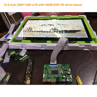 free shipping 13.3 inch 2560*1400 2k 1440p lcd display monitor LQ133T1JW04 with HDMI EDP driver board no touch screen no frame