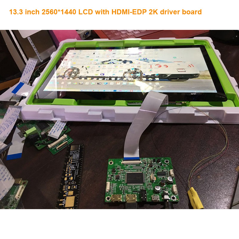 free shipping 13.3 inch 2560*1400 2k 1440p lcd display monitor LQ133T1JW01 with HDMI-EDP driver board no touch screen no frame free shipping n116bge e32 n116bge ea2 n116bge e42 n116bge eb2 lcd b116xtn01 0 screen edp lcd monitor