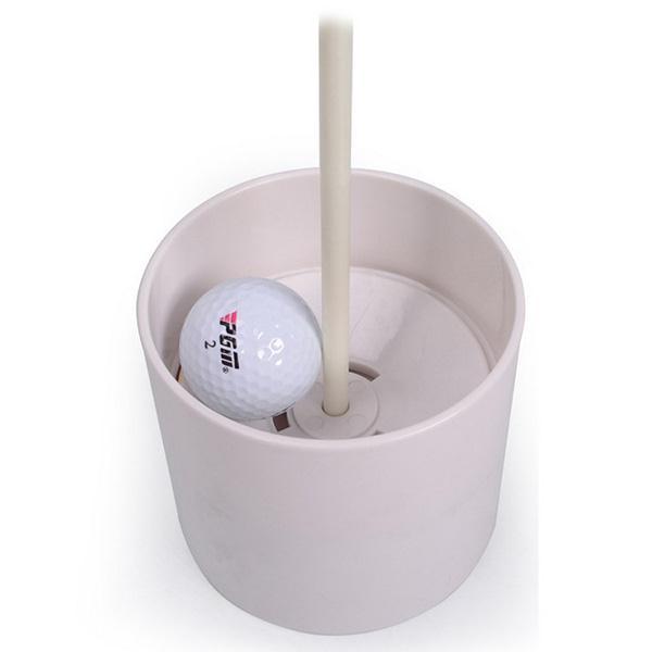 White Plastic Golf Green Hole Cup Putting Yard Backyard Training 10cm Outdoor
