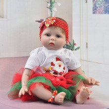 22 pulgadas 55 cm de silicona bebé reborn muñecas real realista chica bebes reborn muñecas juguete para niño regalo de Año Nuevo boneca brinquedos