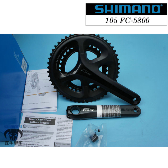 44ffd025092 Shimano 105 FC-5800 Hollowtech II Crankset 2x11-Speed Road Bike 52-36T/53- 39T/50-34T 170/172.5/175mm Road Crank Without BBR60