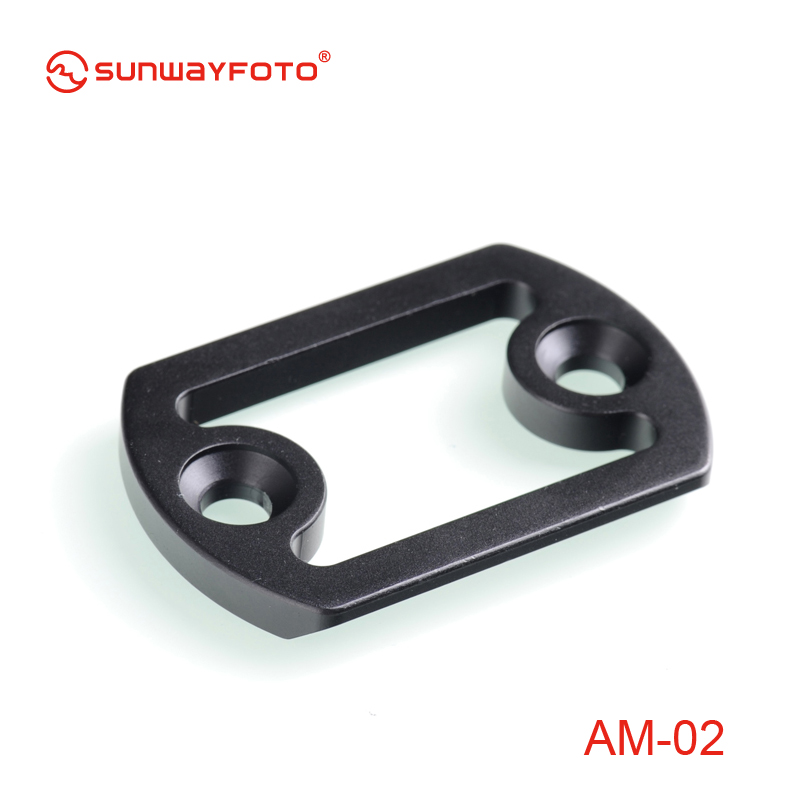 SUNWAYFOTOAM-02 Tripod Head Mount Plate with Arca Swiss for Quick Release Clamp DDH-05N DDH-07N Quick Release Plate