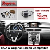 Car Rear View Back Up Reverse Fotocamera Imposta/Visione Notturna di HD/RCA e Originale Schermo Compatibile/Per Volvo V70 XC70 2007 ~ 2013