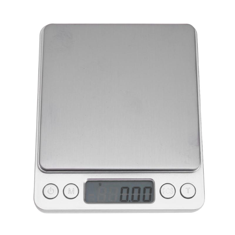 500g x 0.01g 2kg x 0.1g 3kg x 0.1g Portable Mini Electronic Digital Scale Pocket Case Postal Kitchen Jewelry Weight Scales Libra 1 8 lcd pocket digital scale black 500g 0 01g 2 x aaa