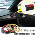 5M Car Styling Car Stickers And Decals Interior Decorative Thread Brand Sticker Decoration Type Decoration Strips on Car-Styling