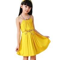 Children S Clothes Girls Summer 2015 Children Dress Girls Beach Princess Skirt Big Child Yellow Green
