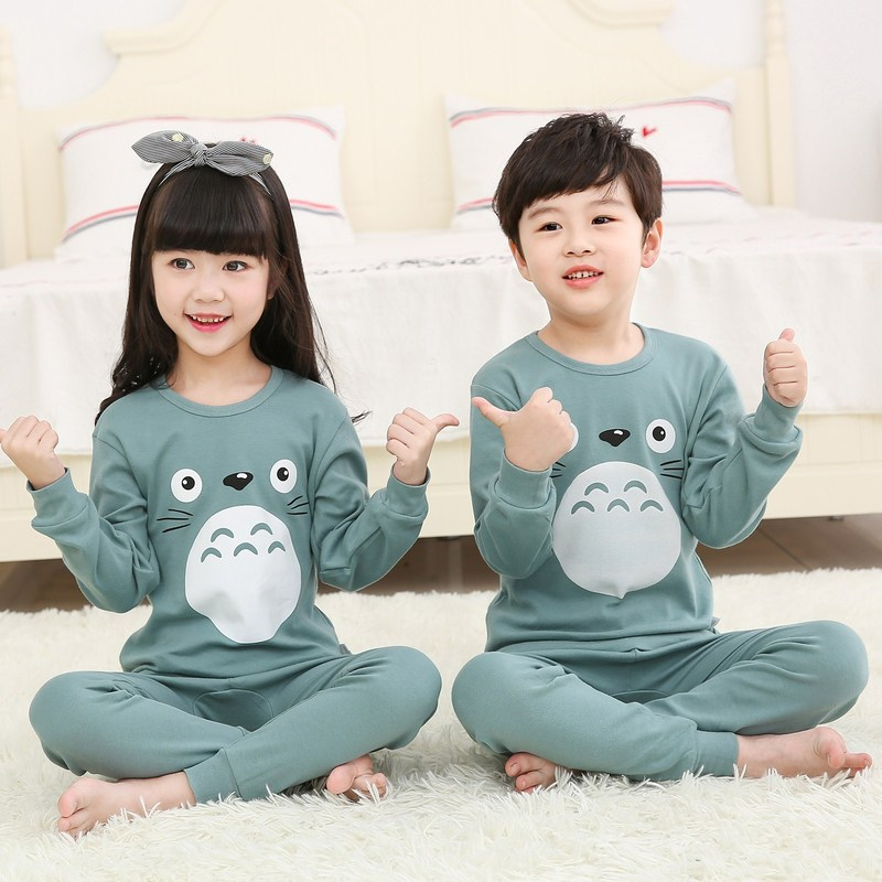 2019 Autumn Winter Kids Pajamas Sets Baby Girl Boy Clothes Pyjamas Girls Pijamas Baby Boys Girls Long Sleeve T-shirt+Pants 2pcs(China)