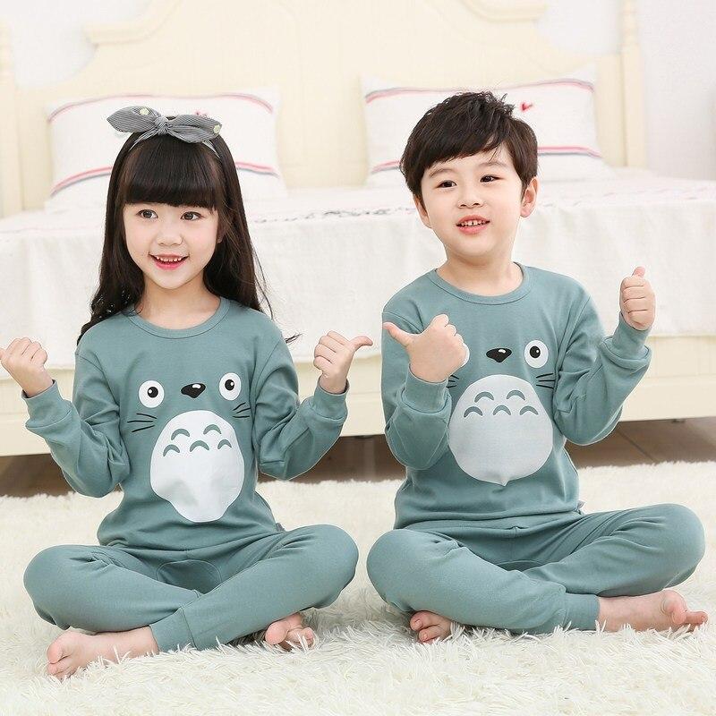 2019 Herfst Winter Kinderen Pyjama Sets Baby Meisje Jongen Kleding Pyjama Meisjes Pijamas Baby Jongens Meisjes Lange Mouwen T- Shirt + Broek 2 Stuks Producten Worden Zonder Beperkingen Verkocht