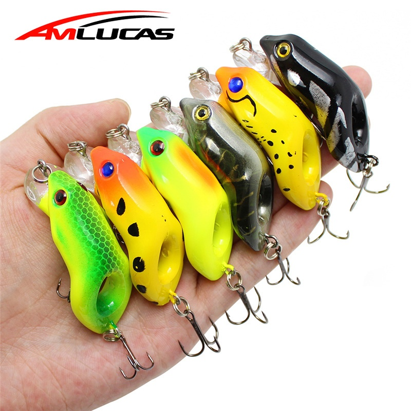 "Soft Fishing Lures Lifelike Artificial Rubber Frog Bass 4x WAKE FROG 4/"" 10cm"