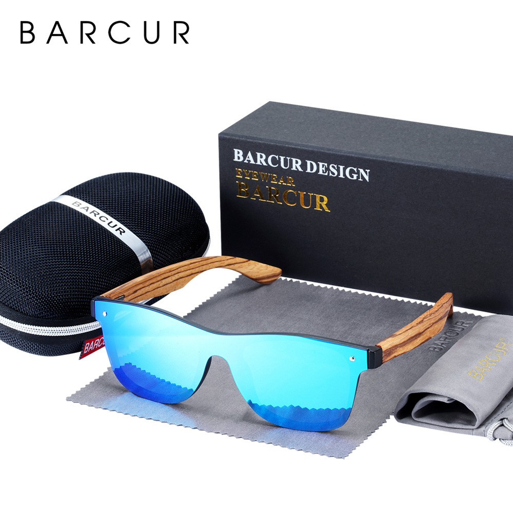 BARCUR Luxury Vintage Sun Shade Men Wooden Sunglasses UV400 Protection Fashion Square Sun glasses Women 1