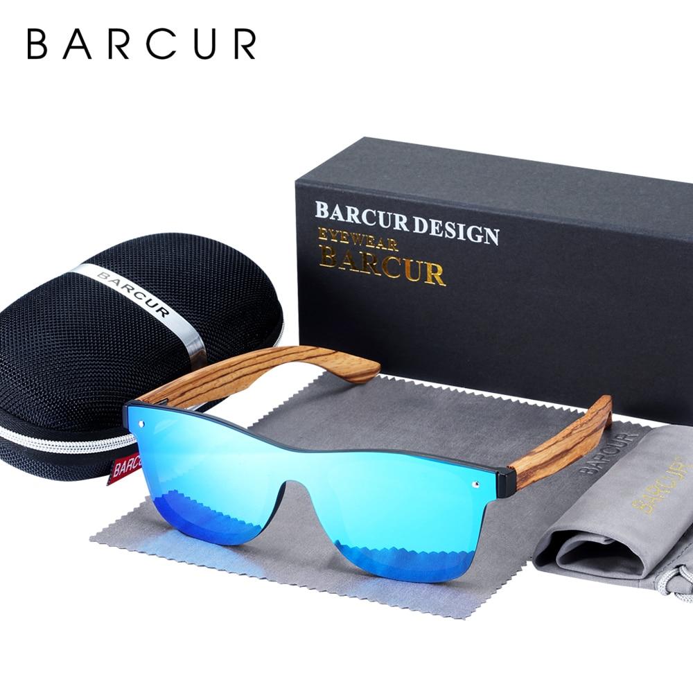 BARCUR Luxury Vintage Sun Shade Men Wooden Sunglasses UV400 Protection Fashion Square Sun glasses Women 1