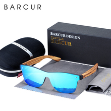 BARCUR Luxury Vintage Sun Shade Men Wooden Sunglasses UV400 Protection Fashion Square glasses Women