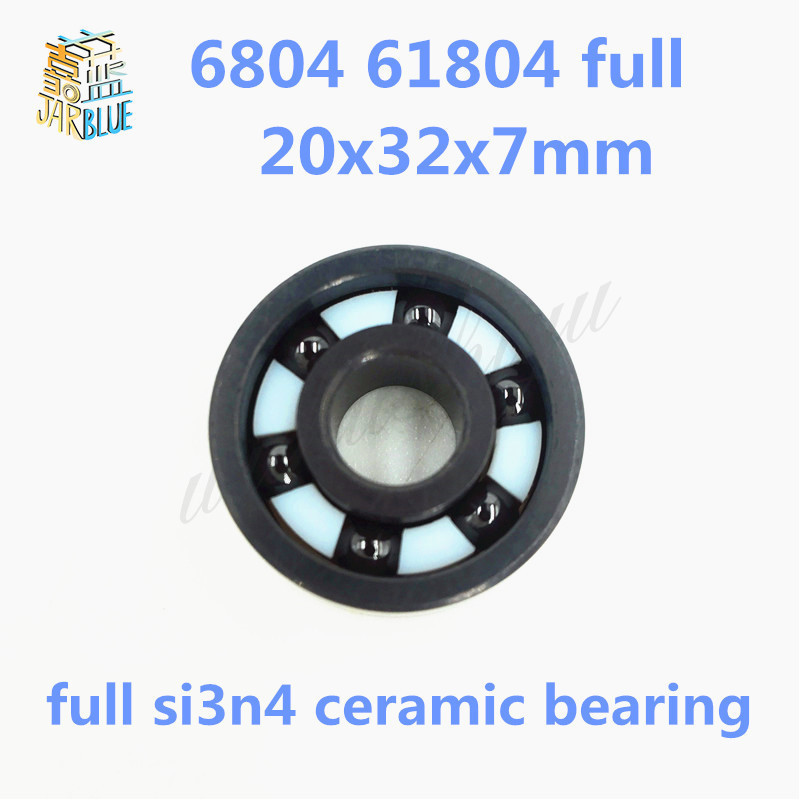 Free shipping 6804 61804 full SI3N4 ceramic deep groove ball bearing 20x32x7mm full ceramic free shipping 6804 2rs 6804 61804 2rs hybrid ceramic deep groove ball bearing 20x32x7mm