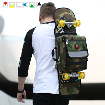Man Use Skateboard Shoulder Bag Camouflage Personality Fashion Dead Fly Bag for Small Fish Plate Double Rocker Bicyboard