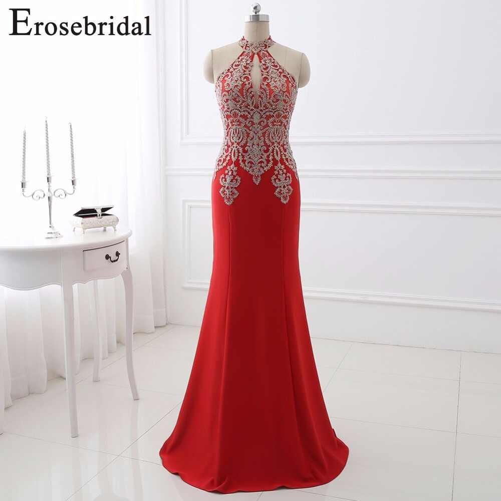 370750b7656 ... 2018 вечернее платье длиной Eorsebridal длинное платье для выпускного  строгие женские платья сексуальный вырез дизайн Русалка ...
