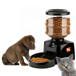 5.5L Automatic Pet Feeder Voice Message Recording LCD Screen Smart Dogs Cats Food Bowl Dispenser+Grain Storage Type Pet Feeder