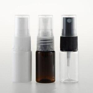 100pcs/Lot 10ml Mist Fill Squirt Makeup Cosmetic Bottle Vials Flat Shoulder Plastic PET Spray Perfume Bottle Small Mini Bottle