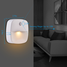 Motion Sensor Night Light 2 PCS Stick-On LED Magnetic Infrared Wall Lamp Cabinet Stairs Battery-Powered