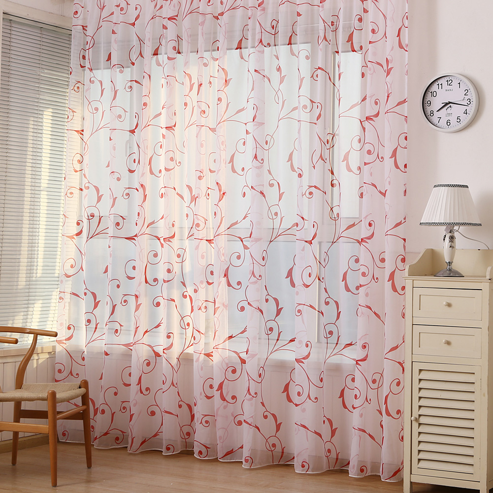 Kid car curtains - Toddler Kids Car Pattern Voile Panel Sheer Curtain Door Room Tulle Drape Window Floral Voile Curtain