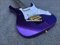 2018 New 6 string purple 24 Frets Custom shop Electric Guitar,Golden hardware with Tremolo bridge, High Quality Guitarra!